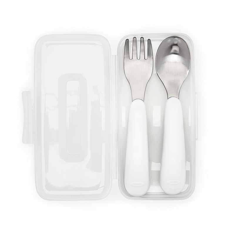 OXO便携不锈钢叉勺套件(绿色)