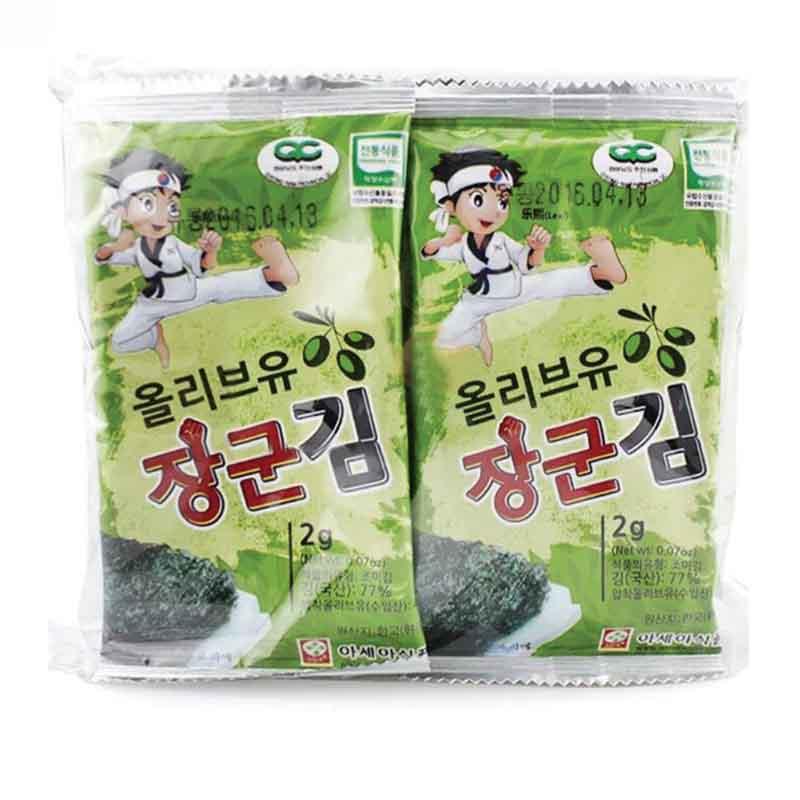 乐曦橄榄油海苔2g*10袋包