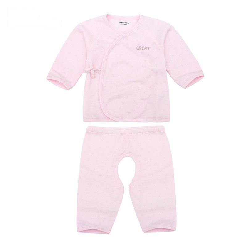 歌瑞家A类女宝宝粉色长袖和短袍套装