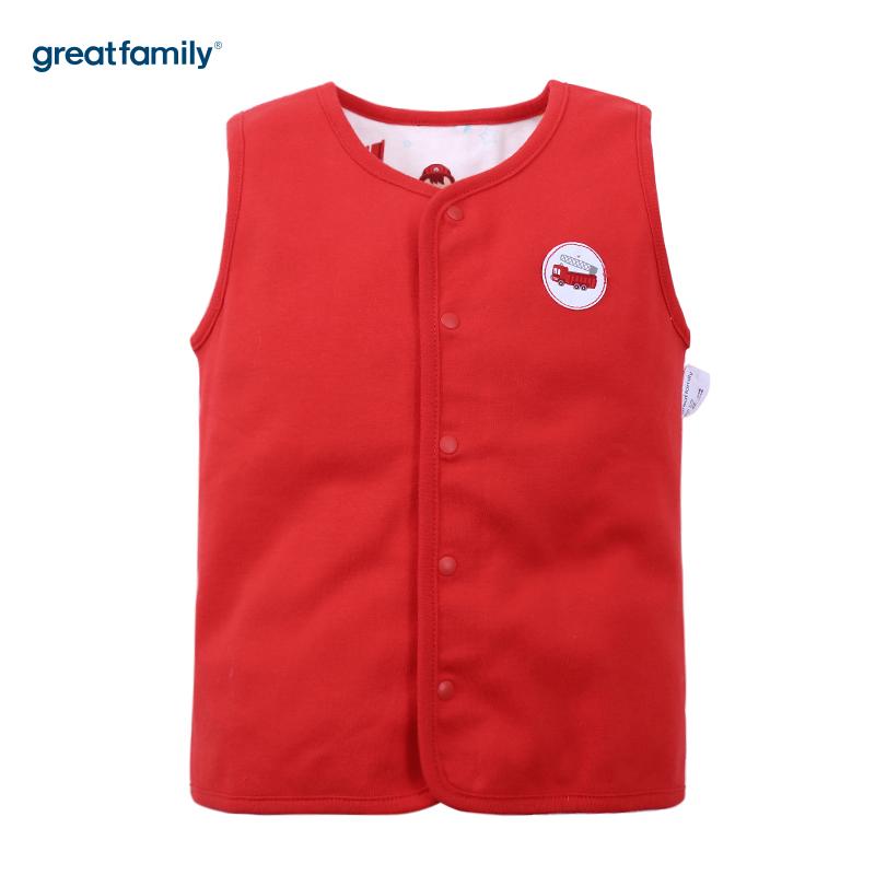 歌瑞家(新)A类双面布红色男两面穿马甲