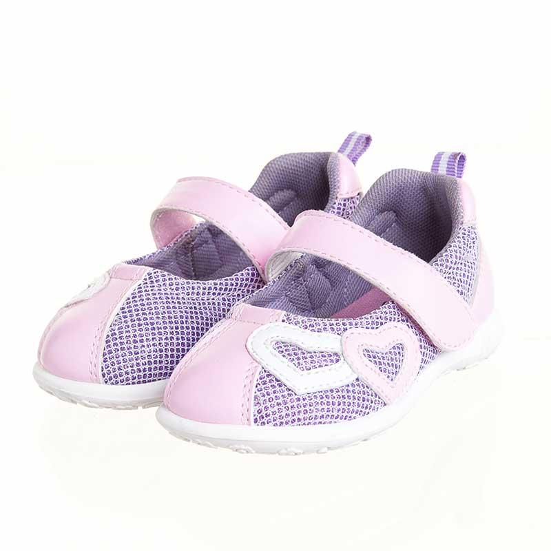 歌瑞贝儿(新)--桃心网眼鞋(女婴儿鞋)GB143-014SH粉15CM