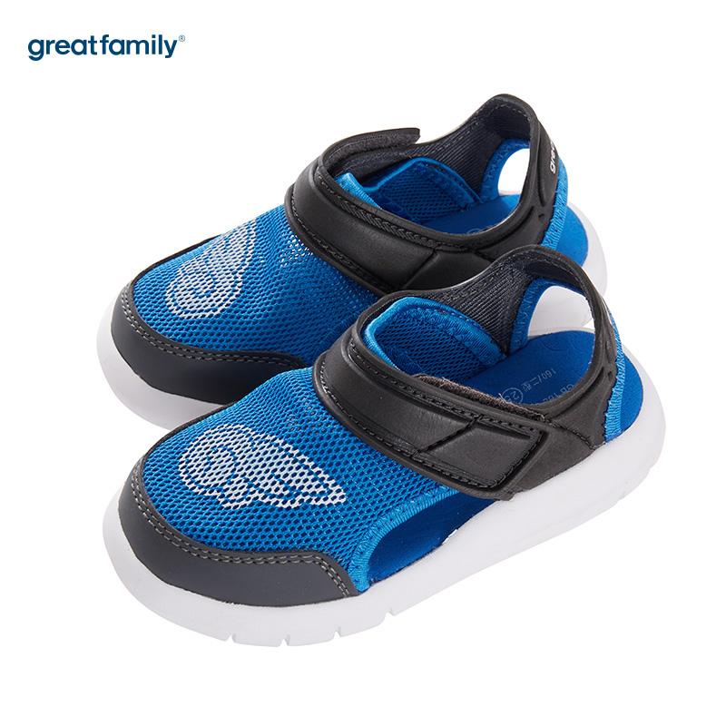 歌瑞家(greatfamily)男婴运动凉鞋GK182-004SH蓝14CM双