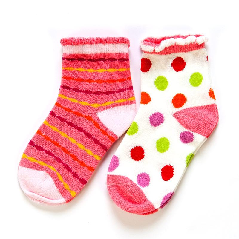 歌瑞贝儿(新)--时尚欢乐袜/2双装GB141-012L混色12-24个月月包