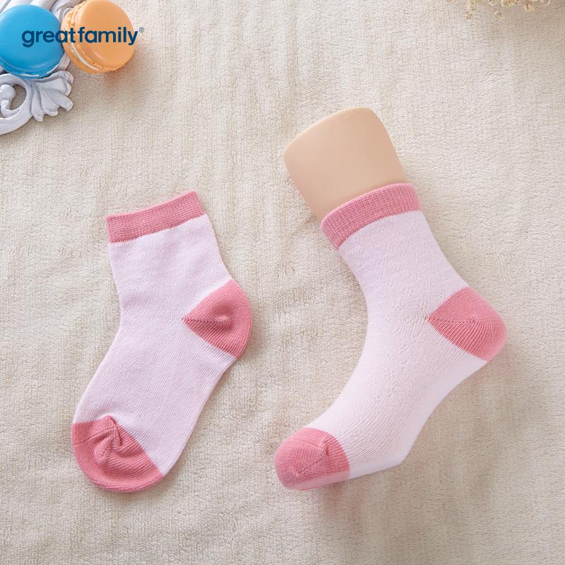 歌瑞家A类女童粉色网眼短袜