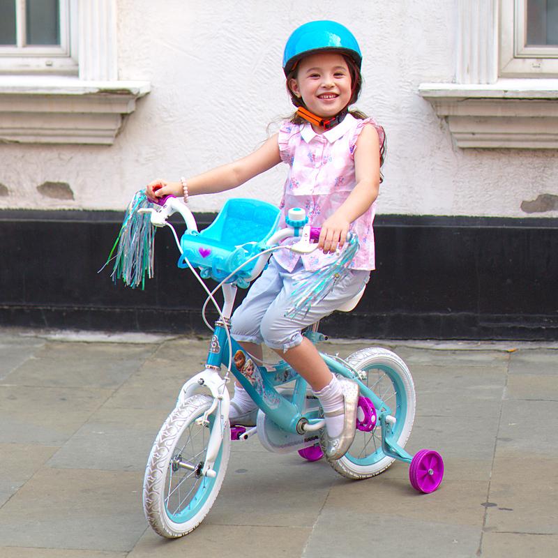 贝乐(BAILEY)冰雪奇缘雪橇娃娃架儿童自行车12寸