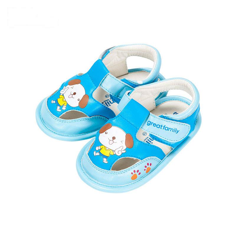 歌瑞贝儿男婴卡通小狗凉鞋GB162-004SH蓝11cm双