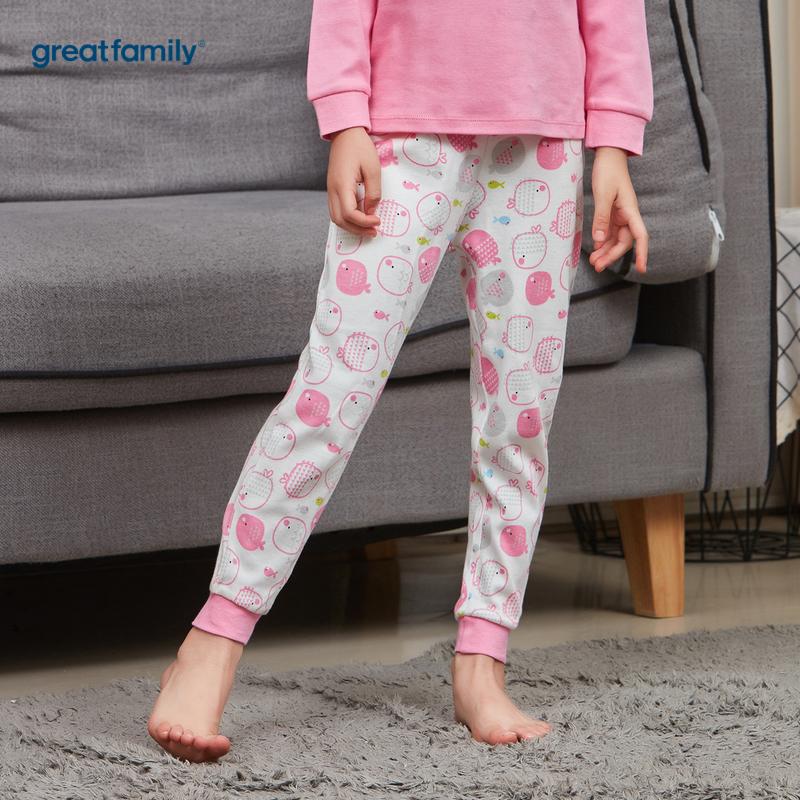 歌瑞家A类双面布系列花色女女童长裤