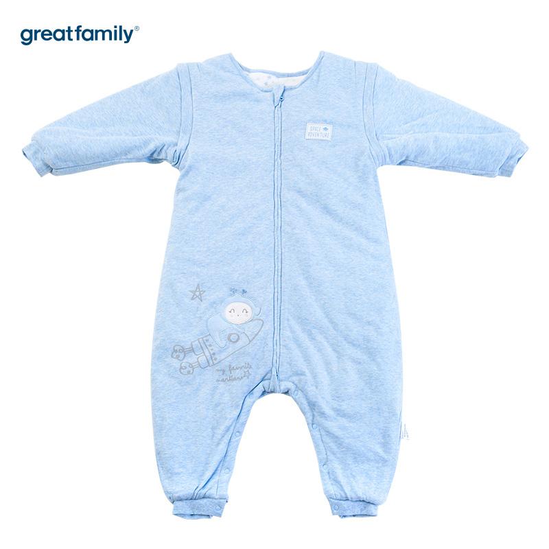 歌瑞家(Greatfamily)A类花纱分腿睡袋蓝色40*85cm