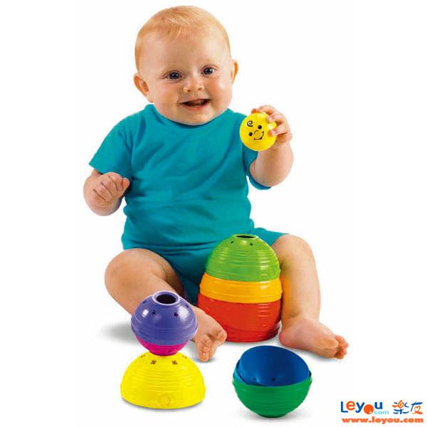 FisherPrice费雪牌婴幼儿层叠彩虹杯碗儿童叠叠乐码高高宝宝益智