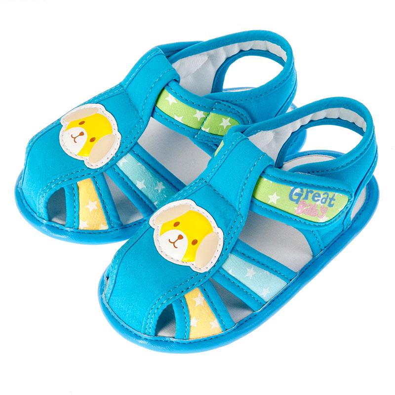 歌瑞贝儿男婴小动物凉鞋GB152-021SH蓝11cm