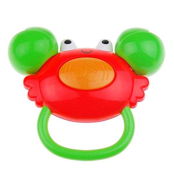 澳贝小螃蟹手摇铃益智玩具宝宝手握摇铃