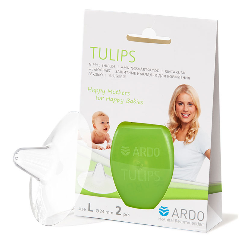 安朵(ARDO)郁金香乳头保护罩L码瑞士进口
