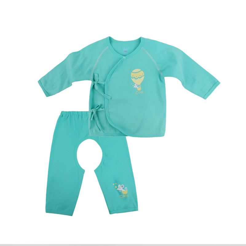 歌瑞贝儿A类男婴绿色纯棉和短袍套装