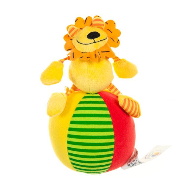字母响铃玩偶球狮子毛绒玩具