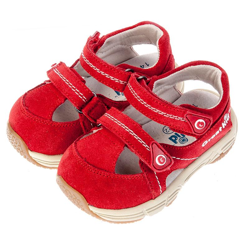 歌瑞凯儿女婴机能鞋GK152-019SH红13.5cm