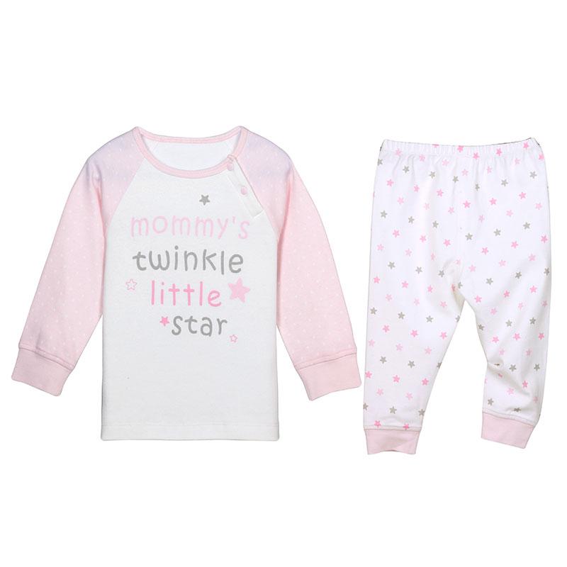 歌瑞贝儿A类女婴粉色纯棉对襟套装