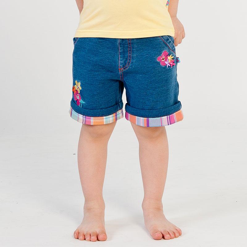 歌瑞凯儿A类女童针织牛仔裤