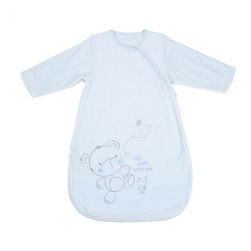 歌瑞贝儿天鹅绒长袖睡袋85*40cm蓝色