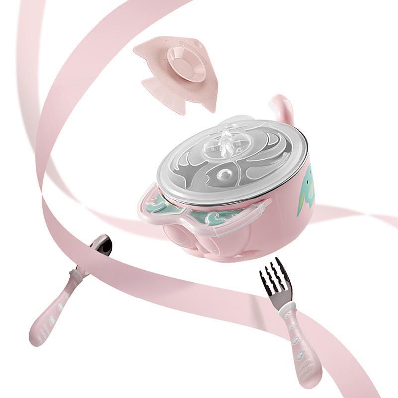 babycare儿童餐具套装3860粉色3件套