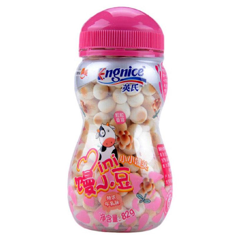 英氏Engnice小小馒头特浓牛乳味82克