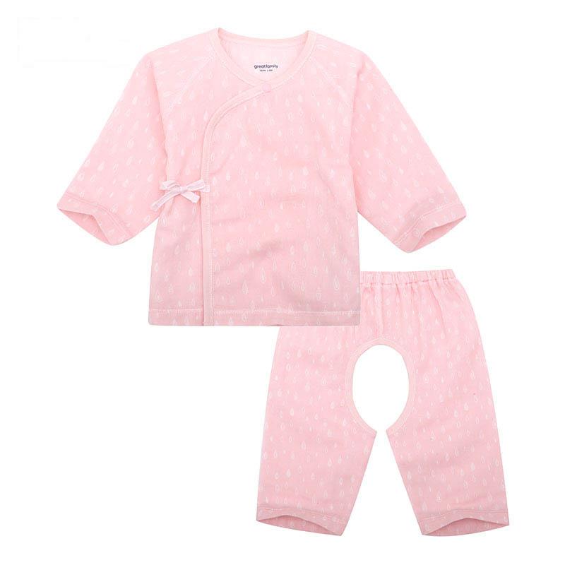 歌瑞家A类女宝宝花色纱布和短袍套装