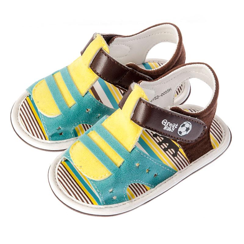 歌瑞贝儿男婴百搭凉鞋GB152-005SH蓝11cm