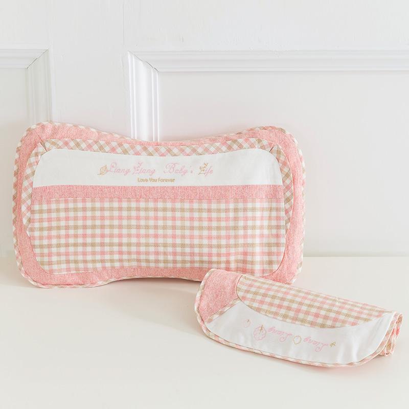 良良格彩童语婴幼儿护型保健枕(2-6岁标准)47.5*25.5(cm)粉LL17A01-3P