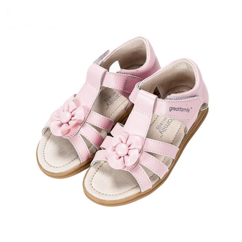 歌瑞凯儿女婴公主凉鞋GK162-018SH粉16cm双