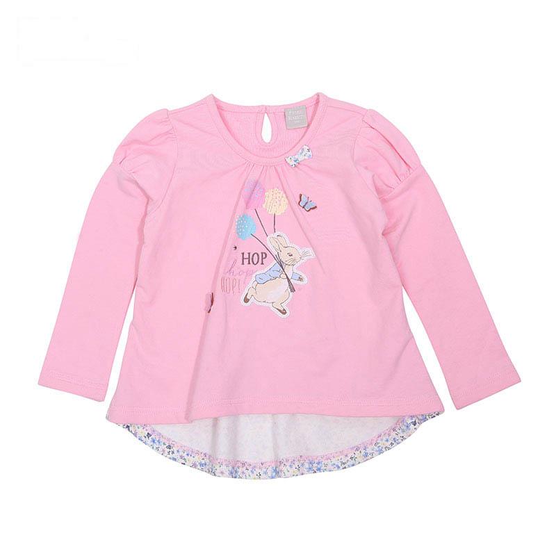 歌瑞家(比得兔)A类女童粉色长袖T恤