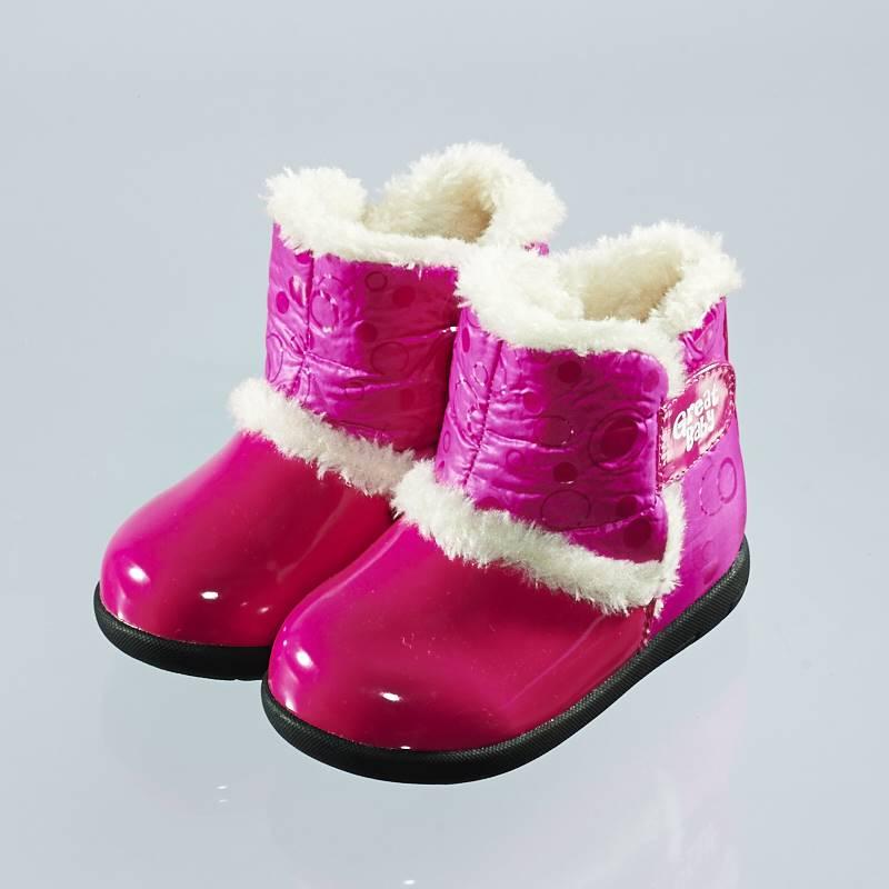 歌瑞贝儿(新)--防水保暖婴儿靴GB144-012SH桃红13.5CM
