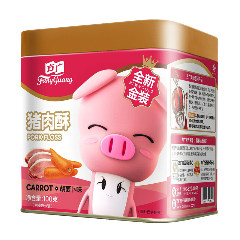 方广猪肉酥胡萝卜味6个月以上100g添加橄榄油低盐