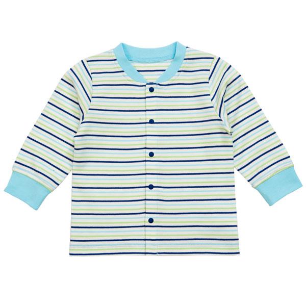 歌瑞贝儿(新)--40支双面布色织对襟上衣GB133-2037VC蓝73cm