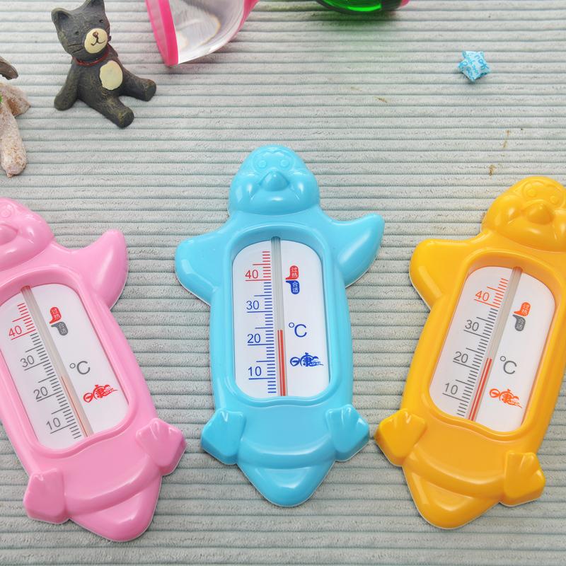 日康企鹅水温计宝宝洗澡游泳测量温度测温计颜色随机