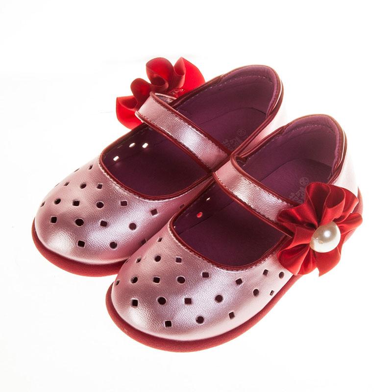 歌瑞贝儿可爱点点公主婴儿鞋粉13.5码GB151-002SH
