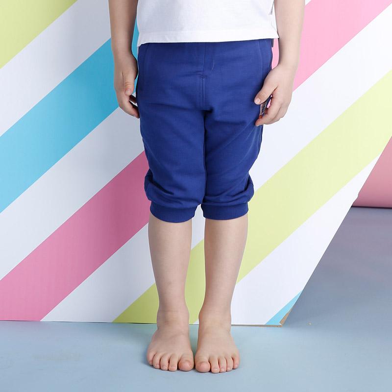 歌瑞家greatfamilyA类蓝色男童针织七分裤
