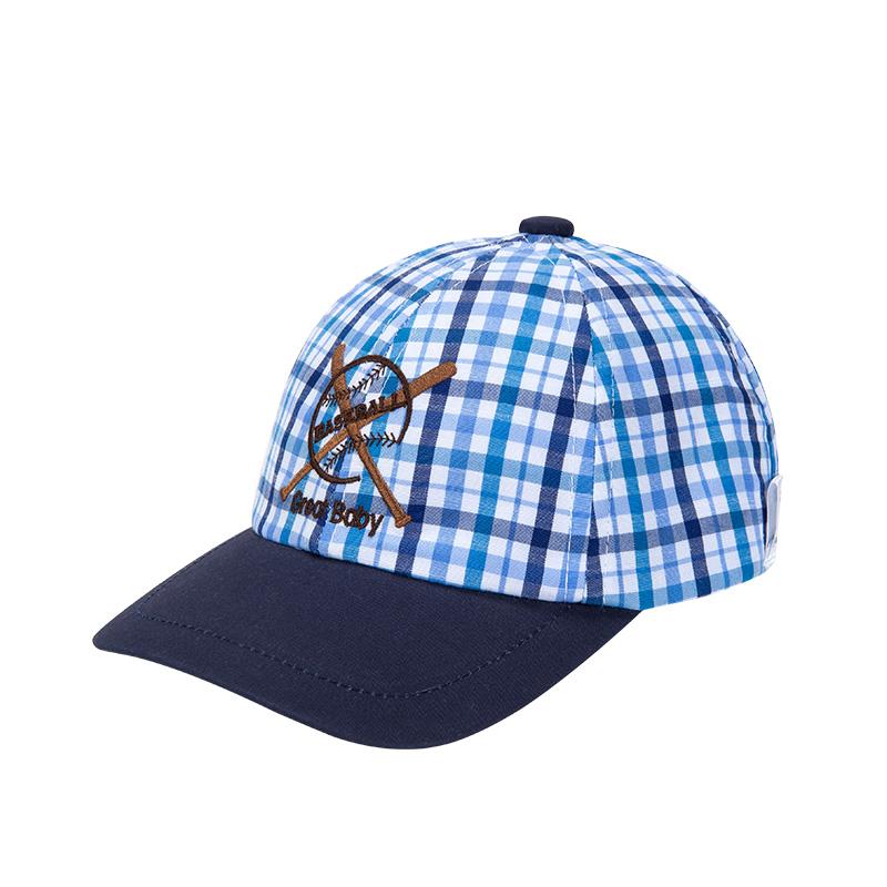 歌瑞家男童格子棒球帽