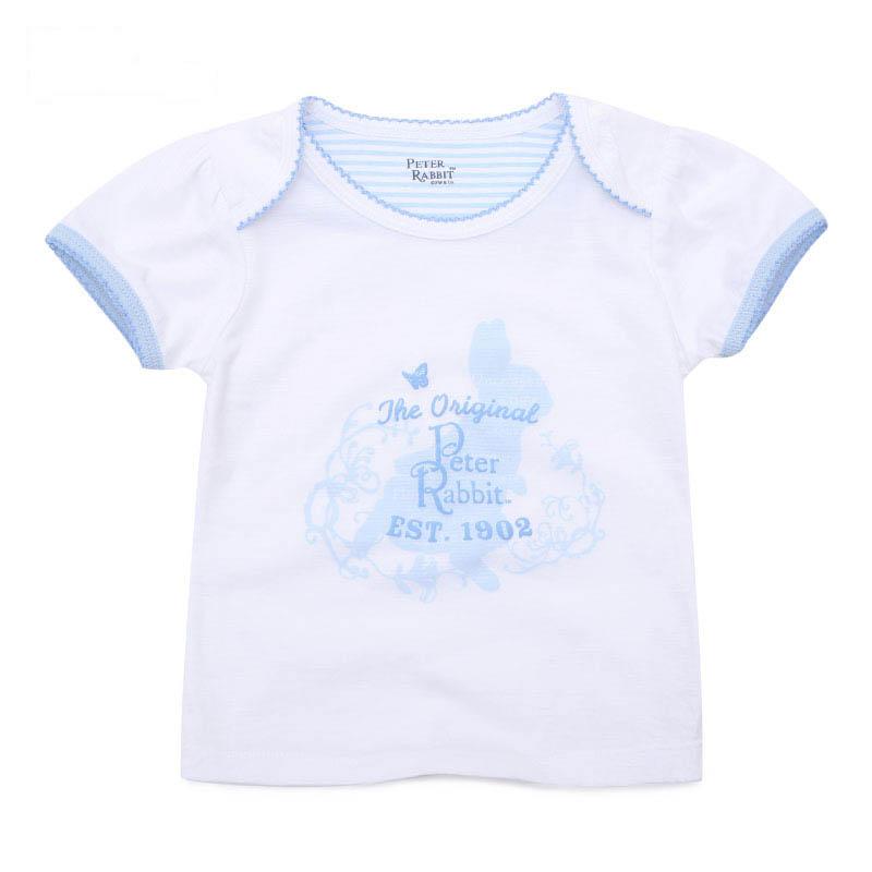 歌瑞家比得兔系列A类女宝宝条纹比得兔背心上衣