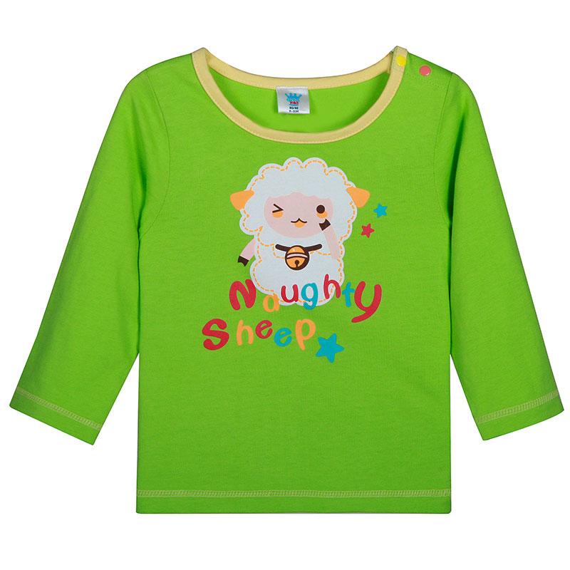歌瑞贝儿A类中绿全棉卡通T恤
