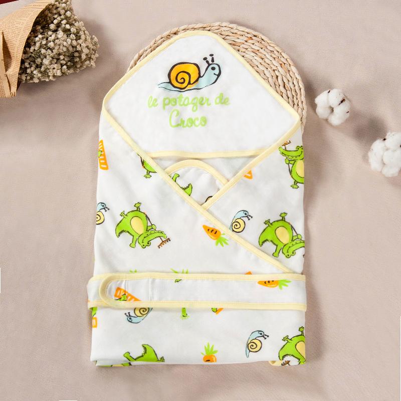 歌瑞家greatfamily竹纤维纱布抱被绿色80*80cm
