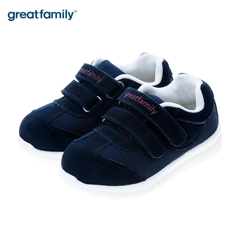 歌瑞贝儿(新)男婴机能鞋GB183-022SH蓝13.5CM双