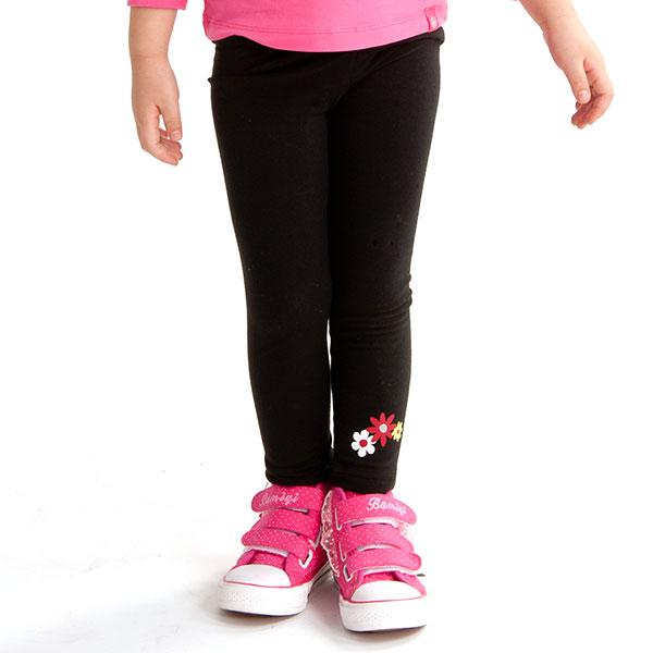 歌瑞凯儿(新)--女童简洁舒适纯色打底裤GK133-238KA黑80