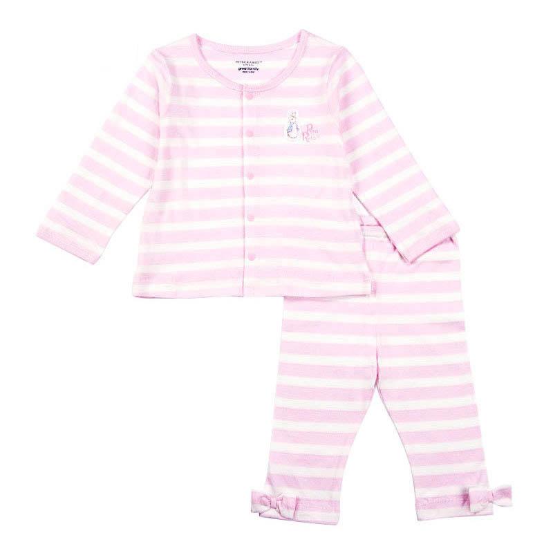歌瑞家(比得兔)A类男女宝宝单面布对襟套装2色可选