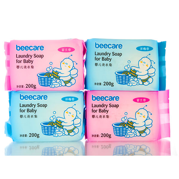 碧呵婴儿洗衣皂洋槐香200g*4不伤衣不伤手
