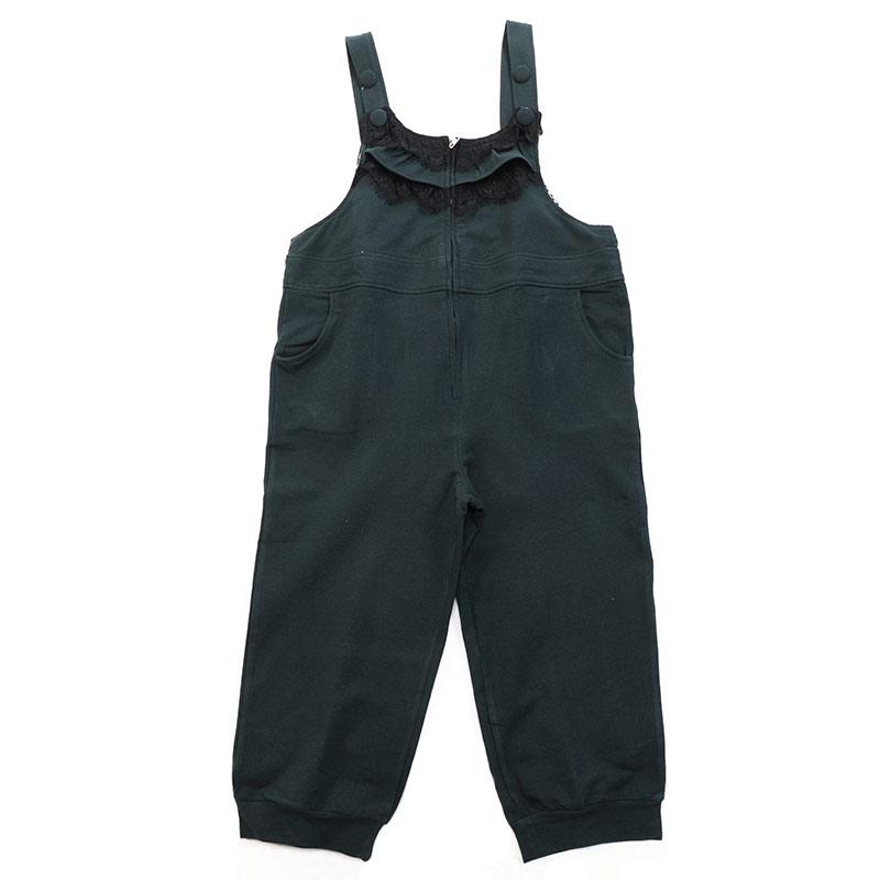欧卡桑(新)--木耳边墨玉背带裤B10090ZBK混色L