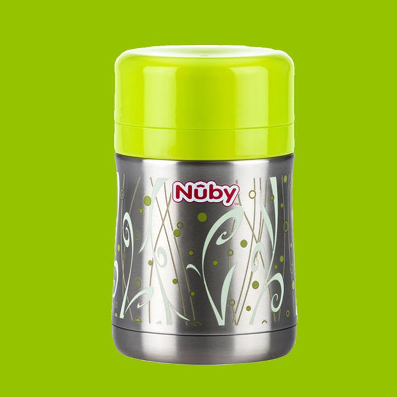 努比nuby不锈钢真空保温食物储存罐450ml