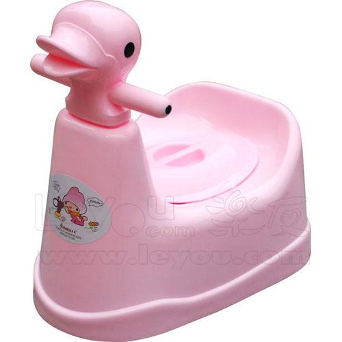 茶花鸭头式儿童便盆马桶盆座便器宝宝坐厕儿童用品