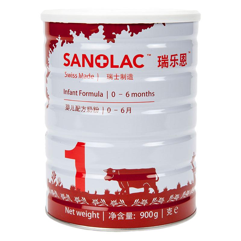 瑞乐恩Sanolac金装1段婴幼儿配方奶粉0至6个月900g原装进口