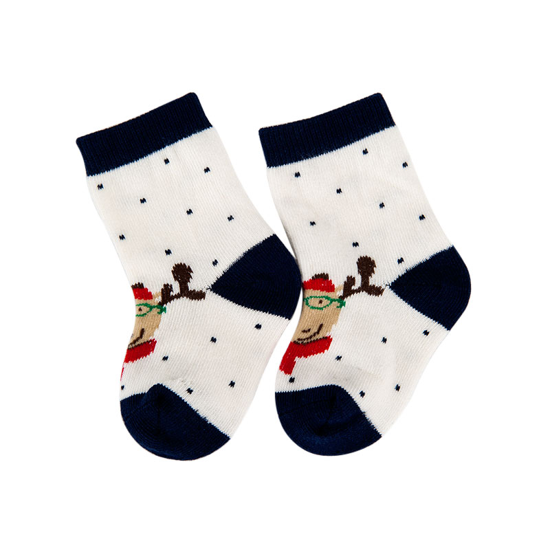 歌瑞贝儿圣诞系列中性蓝色童中袜(1双装)