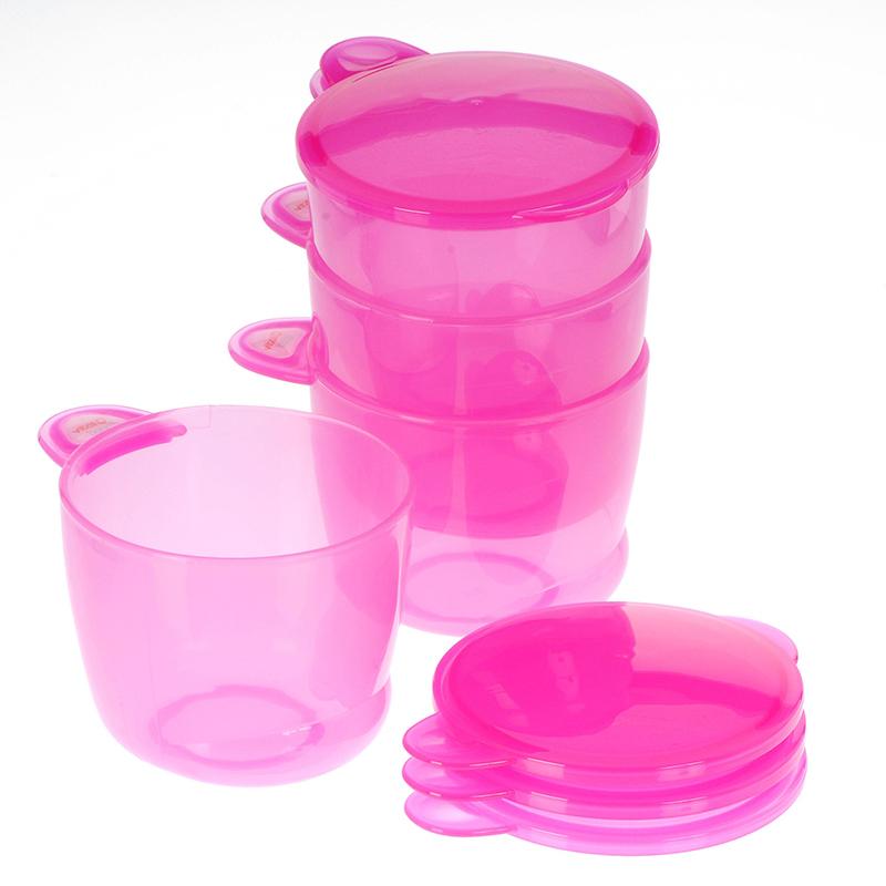 韦特儿Vital多功能食物储存罐4个装红色安全PP材质不含双酚A