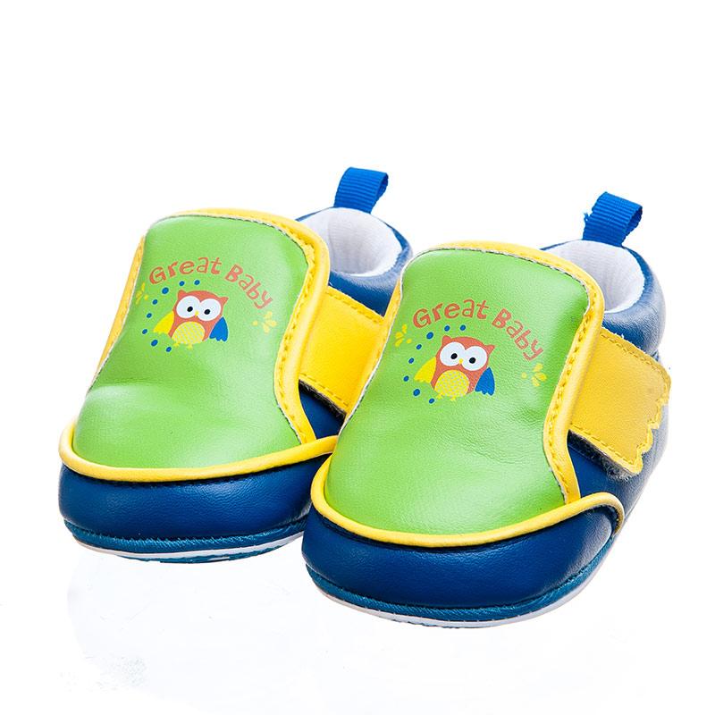 歌瑞贝儿可爱猫头鹰宝宝鞋绿11码GB142-021SH